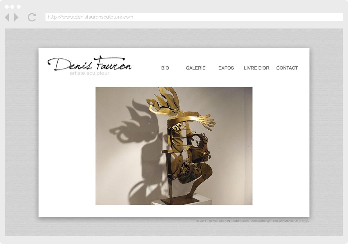 Ecran 1 du site Denis Fauron Sculpture