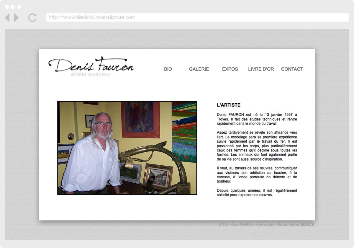 Ecran 2 du site Denis Fauron Sculpture