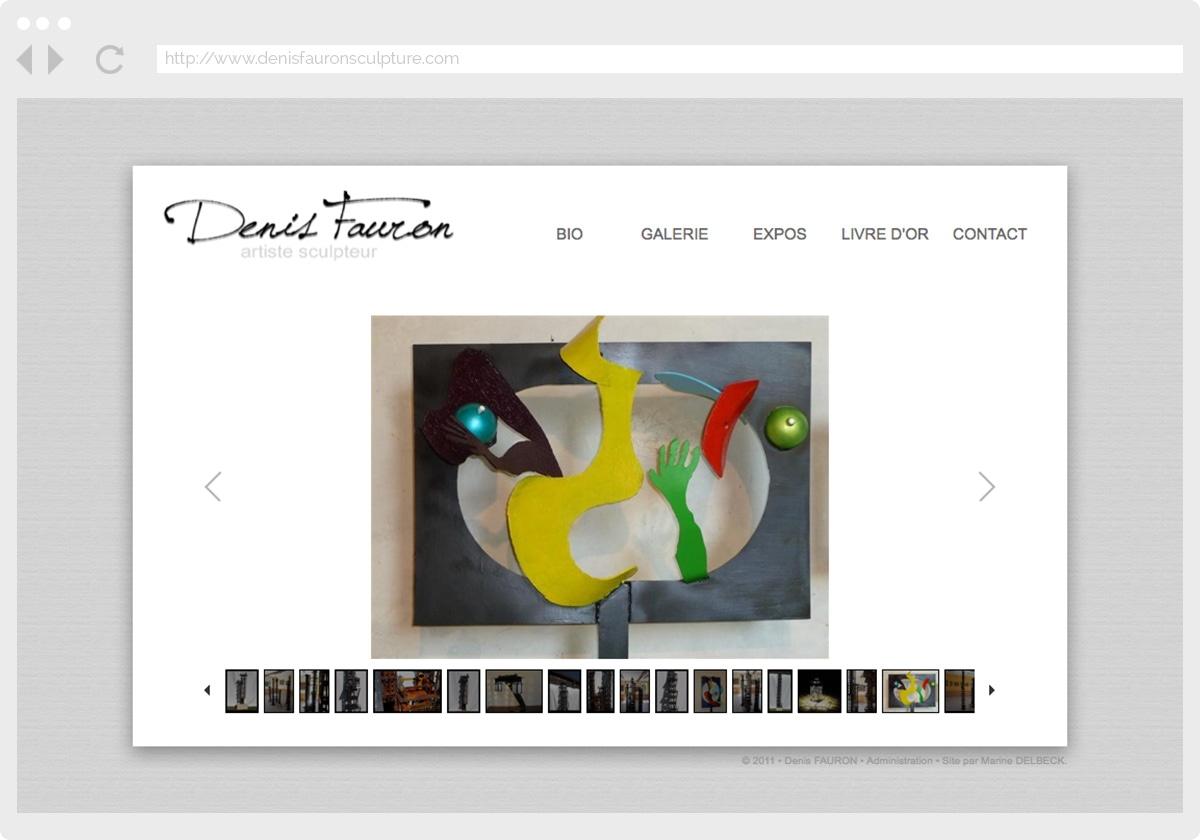 Ecran 3 du site Denis Fauron Sculpture