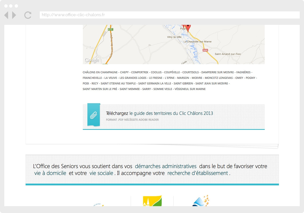 Ecran 3 du site Office des Seniors