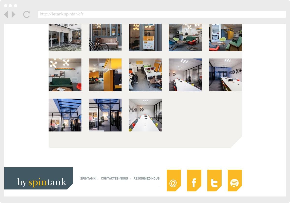 Ecran 2 du site Le Tank