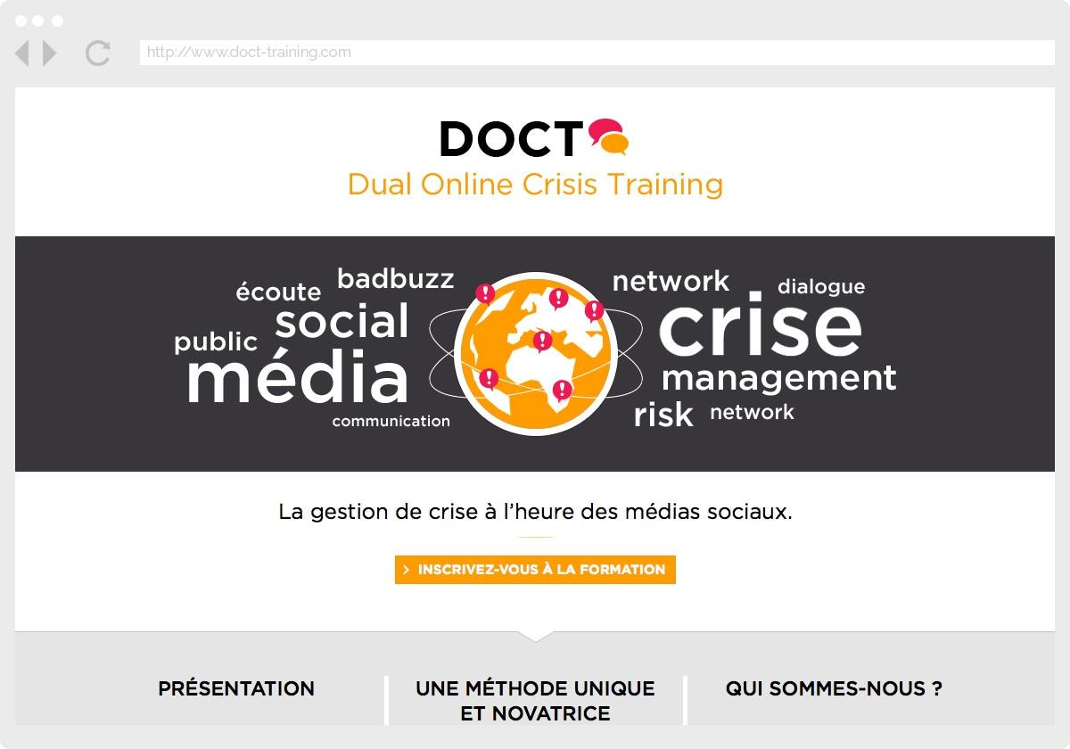Ecran 1 du site DOCT