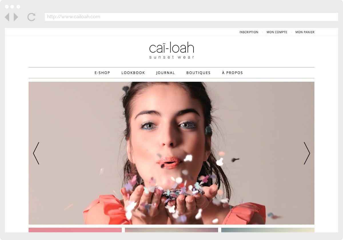 Ecran 1 du site Caï-loah