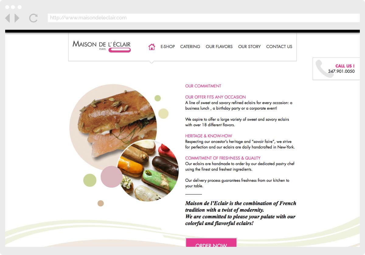 Ecran 1 du site Maison de l'éclair