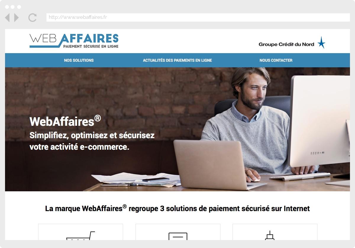 Ecran 1 du site WebAffaires