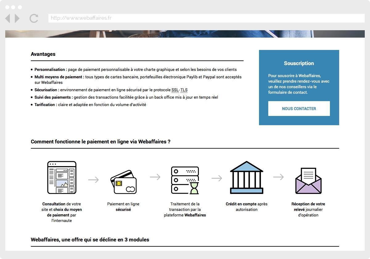 Ecran 3 du site WebAffaires