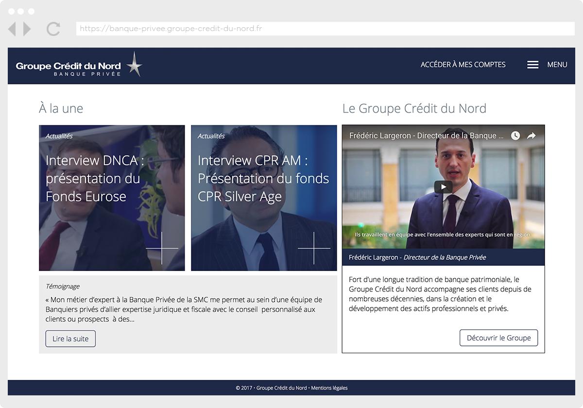 Ecran 3 du site Banque Privée