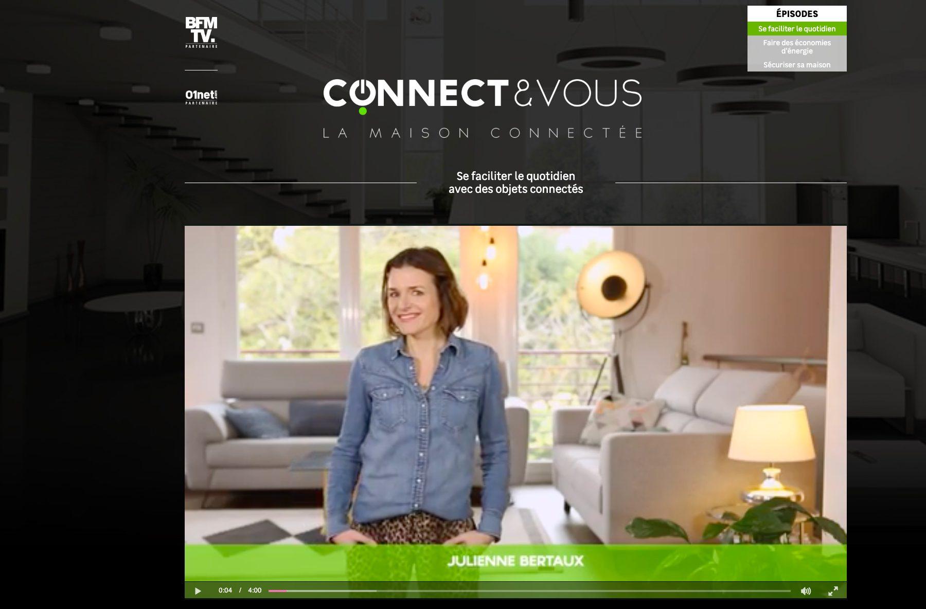 Ecran 1 du site Connect&Vous