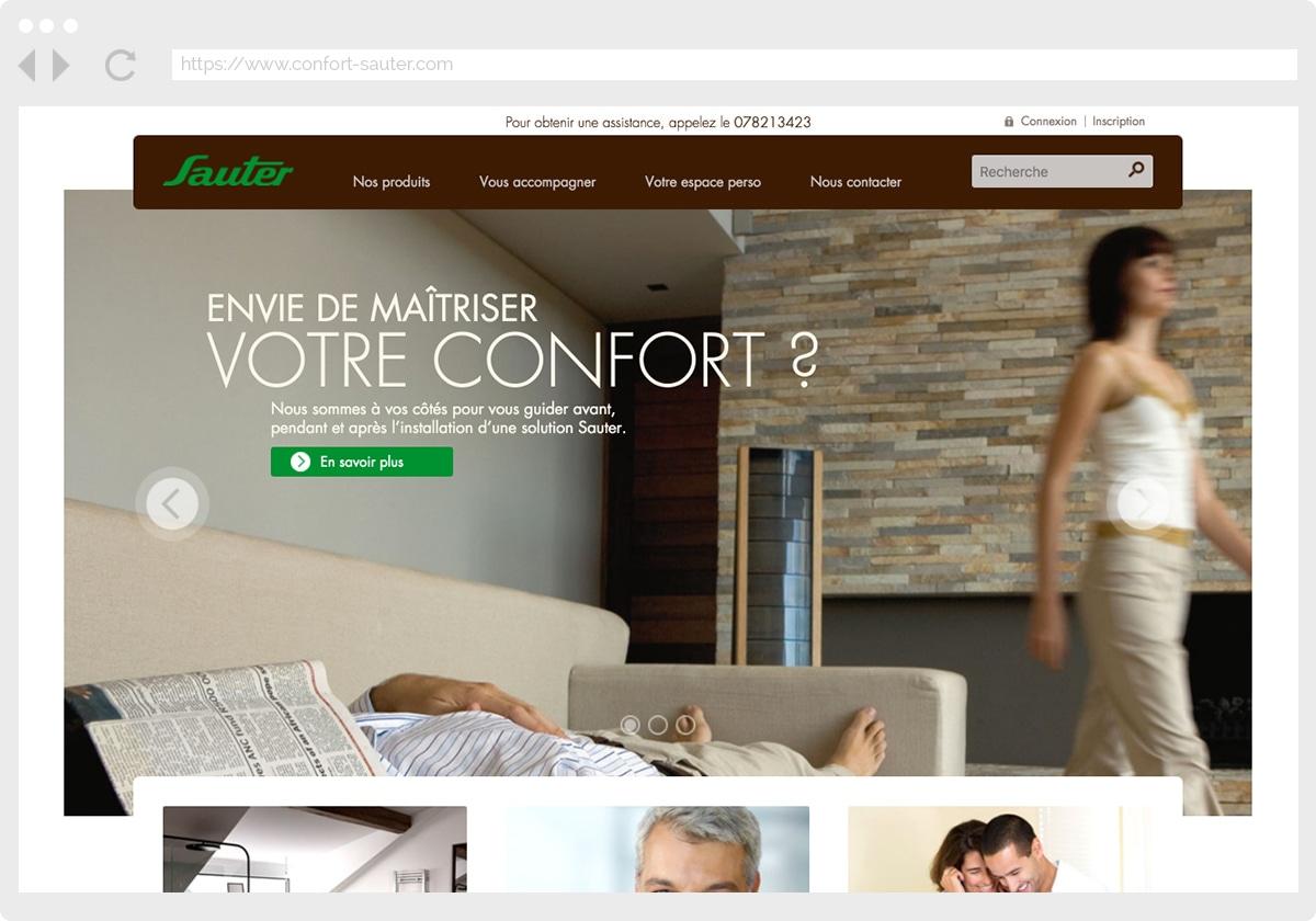 Ecran 1 du site Sauter Confort