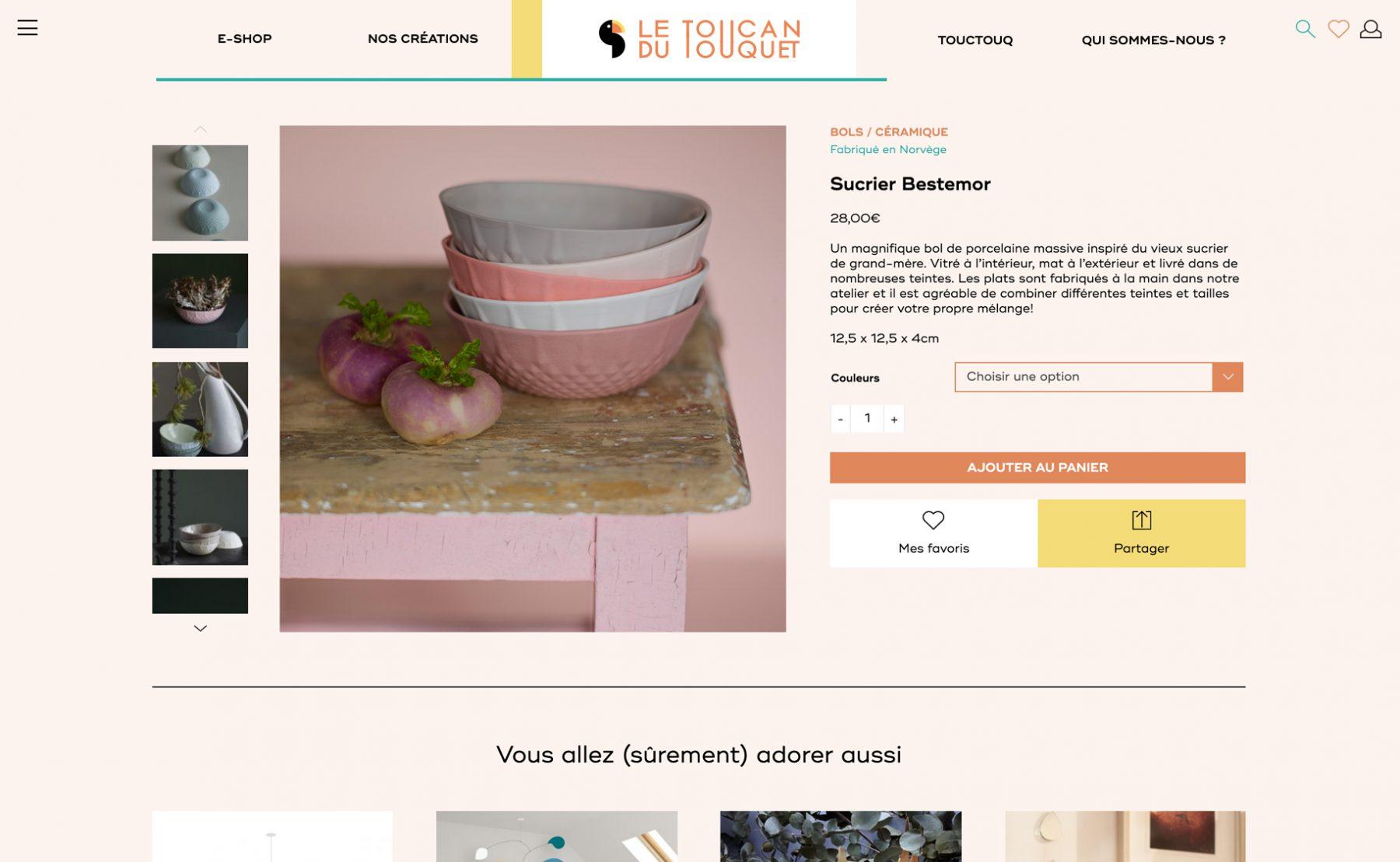 Ecran 2 du site Le toucan du Touquet