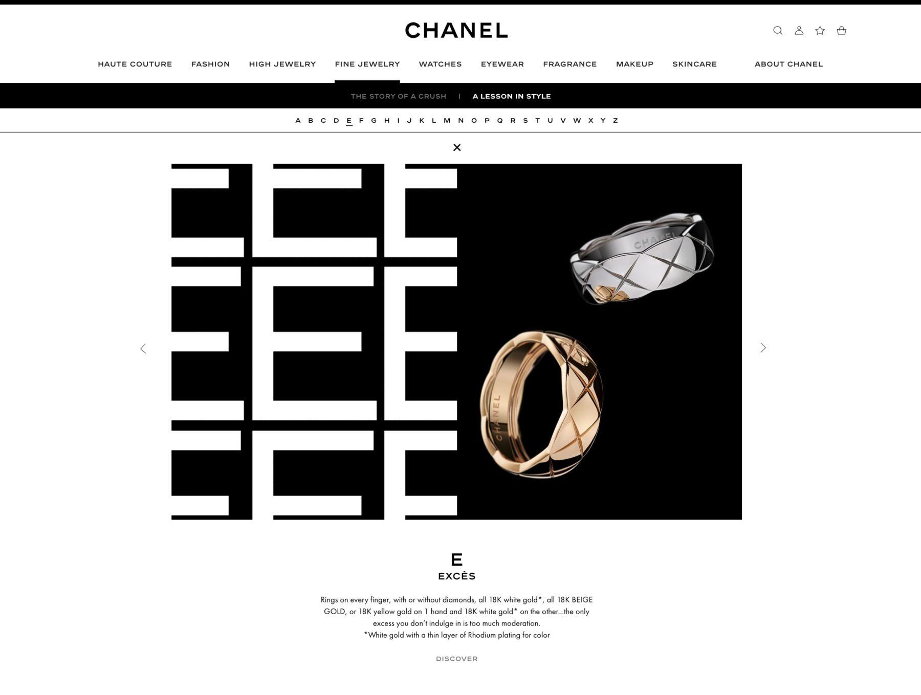 Ecran 2 du site Leçon de style
