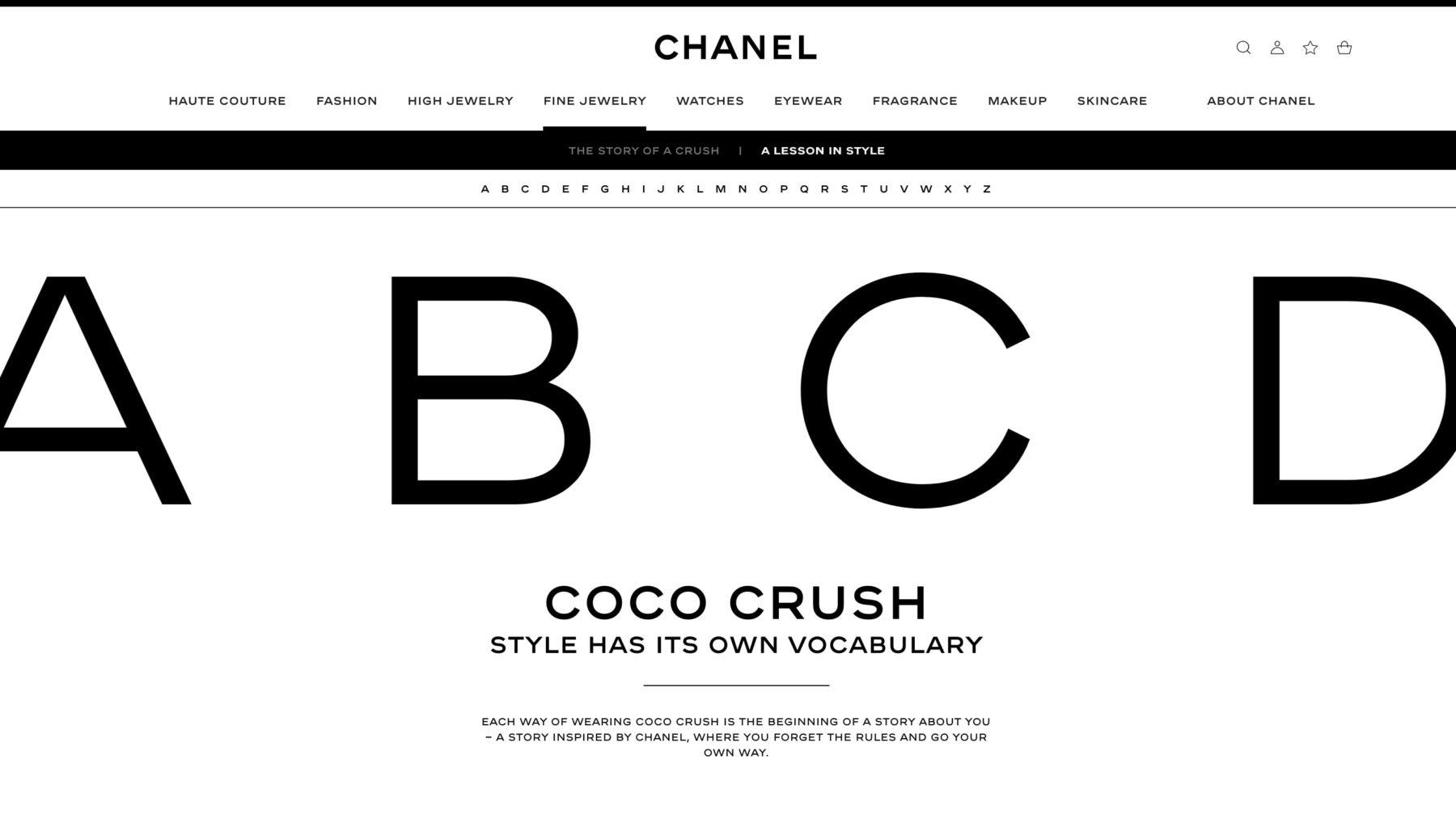 Ecran 1 du site Leçon de style